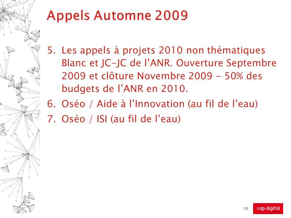 Appels Automne 2009