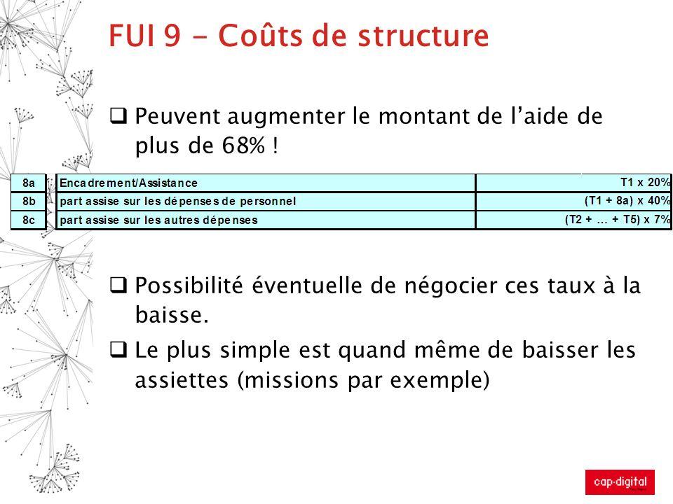FUI 9 - Coûts de structure