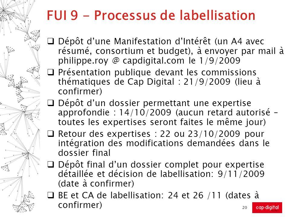 FUI 9 - Processus de labellisation