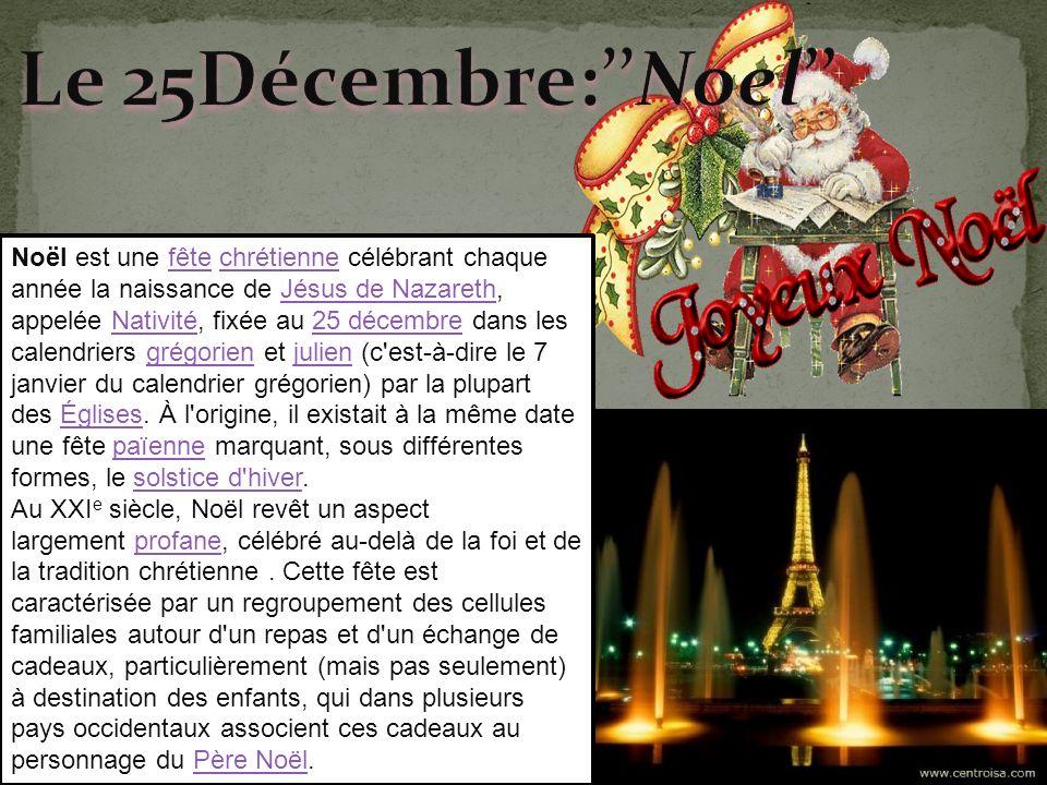 Le 25Décembre:''Noel''
