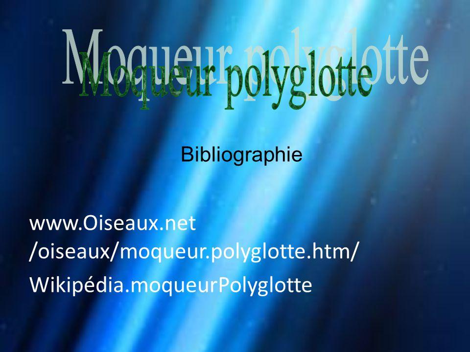 Moqueur polyglotte Bibliographie.