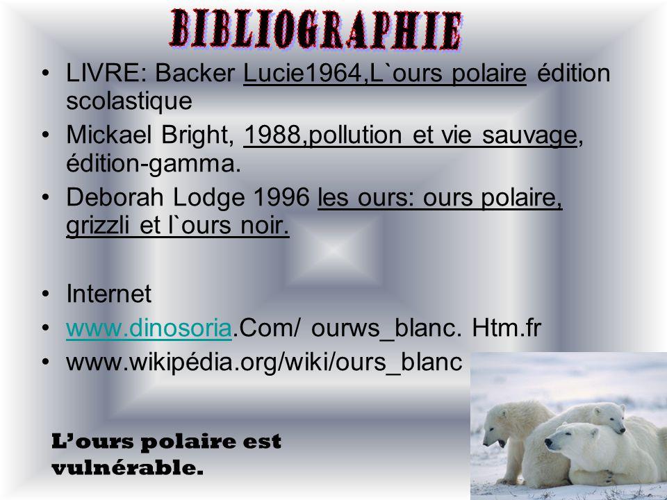 LIVRE: Backer Lucie1964,L`ours polaire édition scolastique