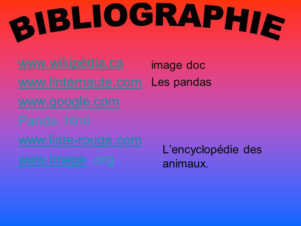BIBLIOGRAPHIE www.wikipédia.ca www.linternaute.com www.google.com