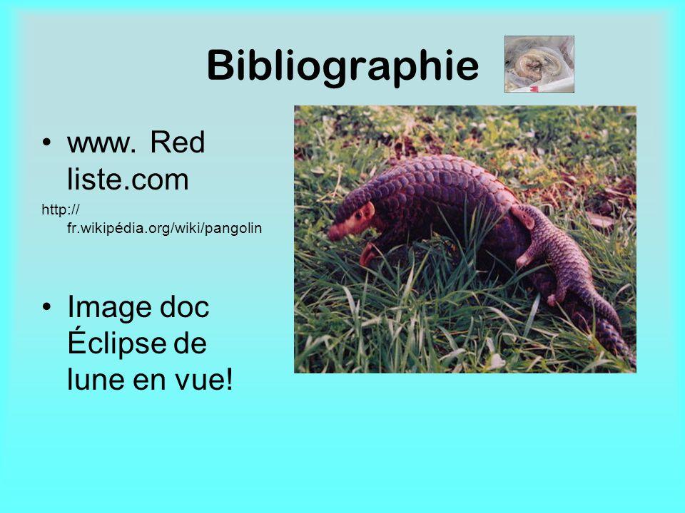 Bibliographie www. Red liste.com Image doc Éclipse de lune en vue!