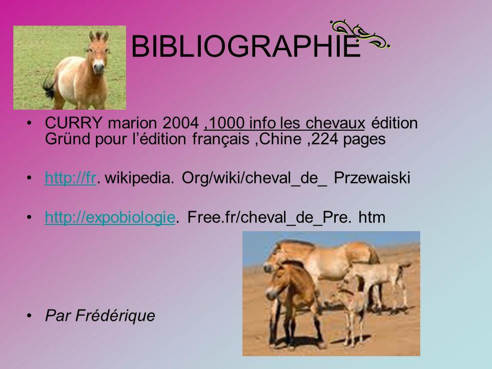 BIBLIOGRAPHIE CURRY marion 2004 ,1000 info les chevaux édition Gründ pour l'édition français ,Chine ,224 pages.