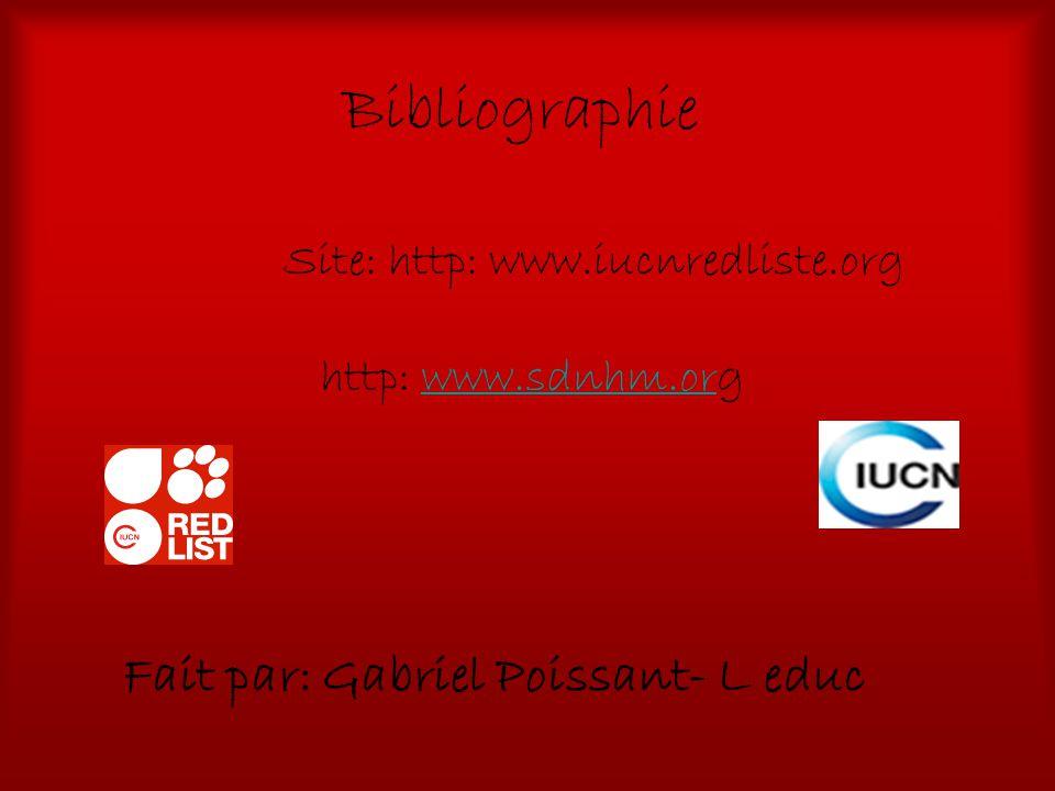 Site: http: www.iucnredliste.org