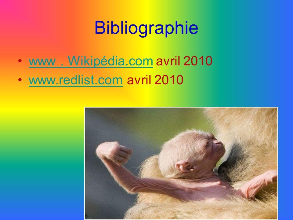 Bibliographie www . Wikipédia.com avril 2010