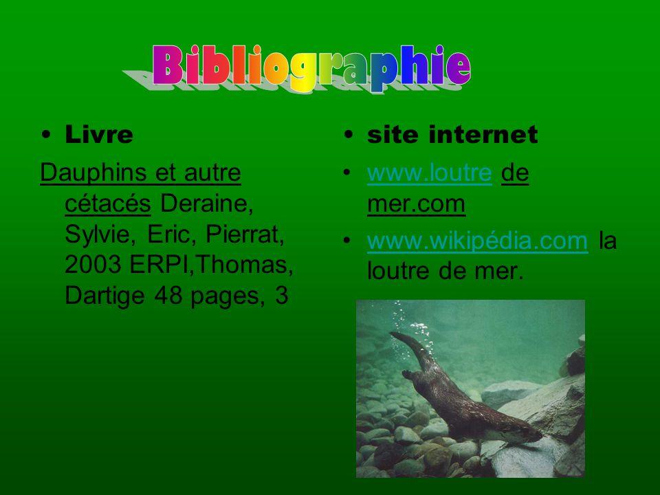 Bibliographie Livre. Dauphins et autre cétacés Deraine, Sylvie, Eric, Pierrat, 2003 ERPI,Thomas, Dartige 48 pages, 3.