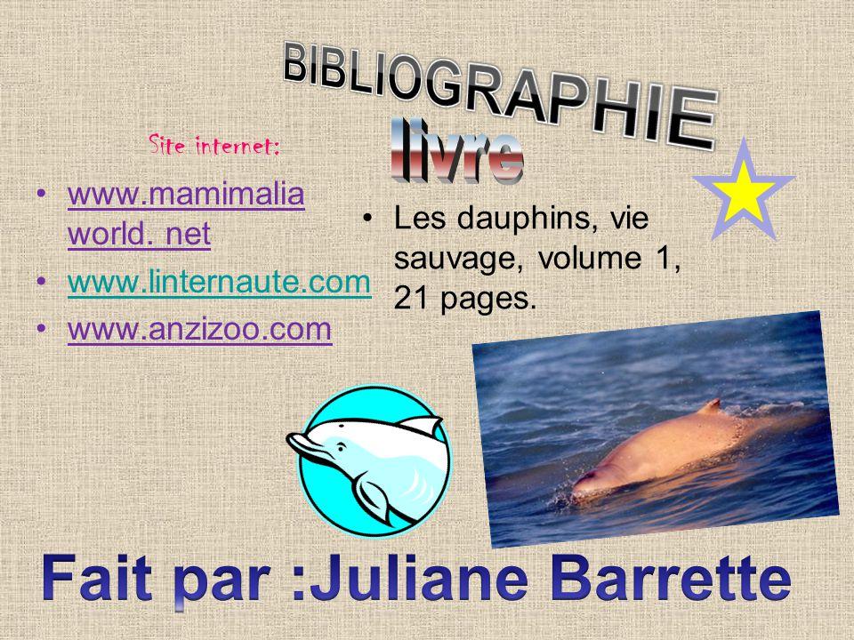 Fait par :Juliane Barrette