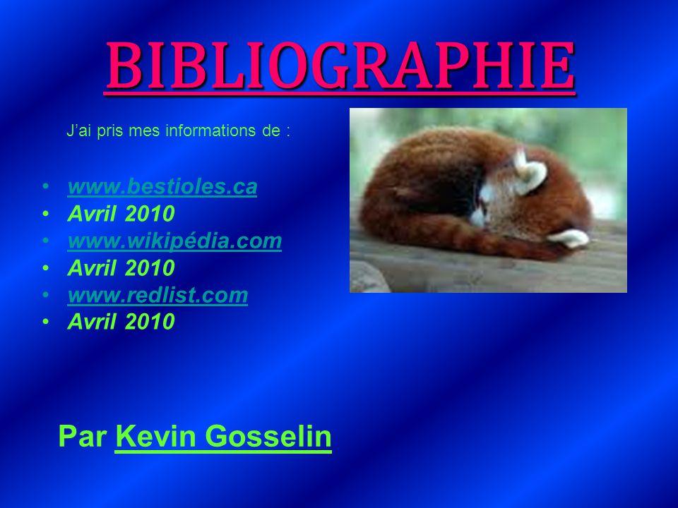 BIBLIOGRAPHIE Par Kevin Gosselin www.bestioles.ca Avril 2010