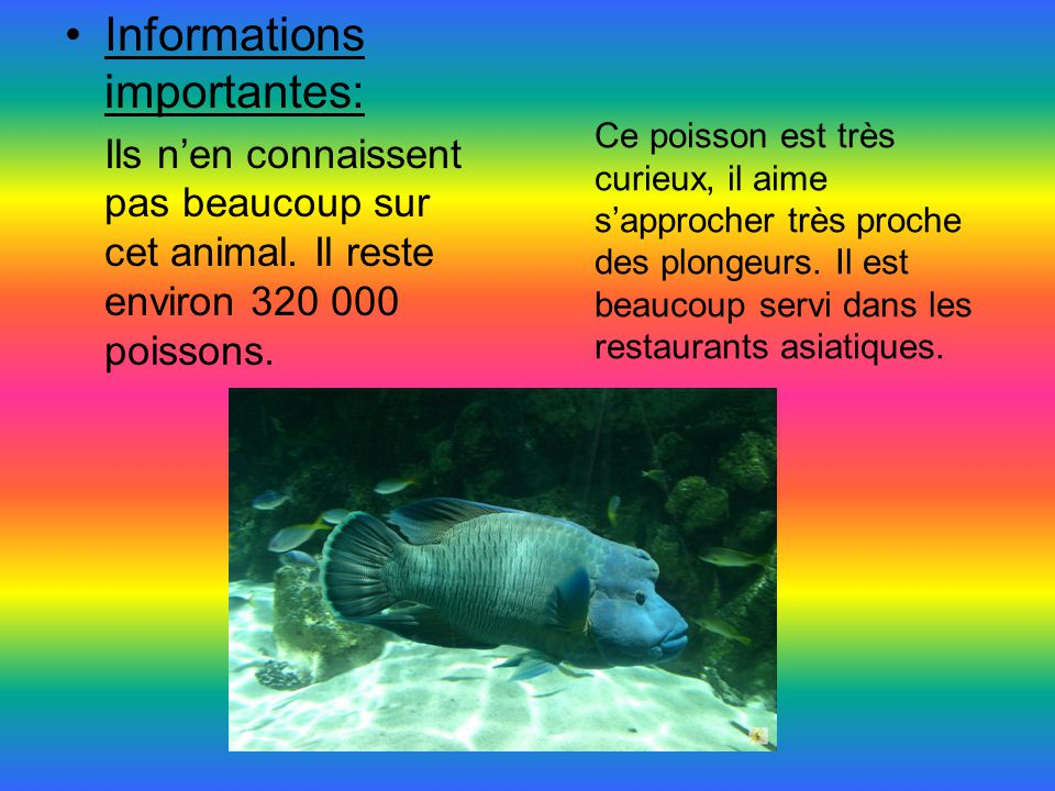Informations importantes: