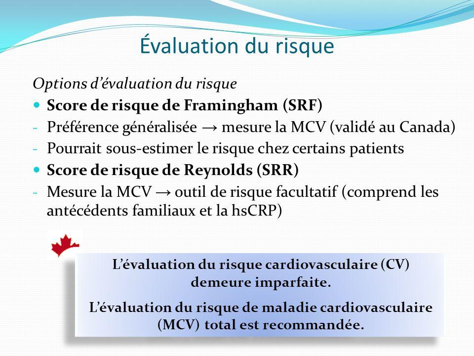 L'évaluation du risque cardiovasculaire (CV) demeure imparfaite.