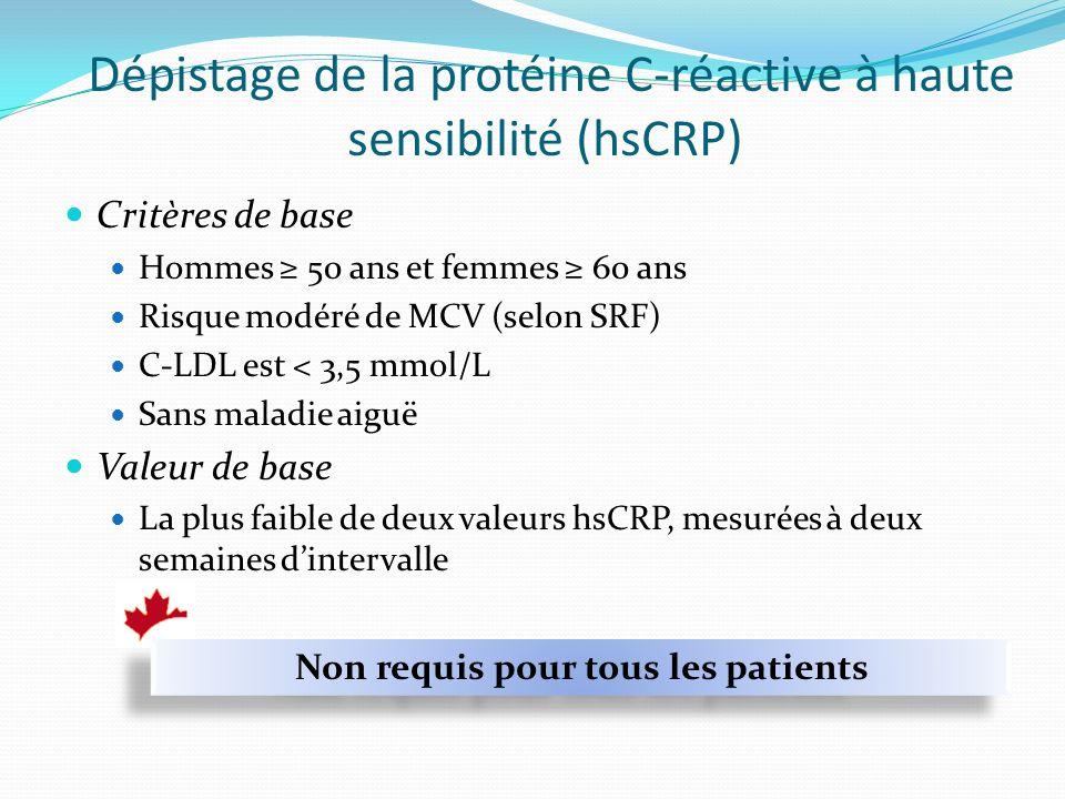 Dépistage de la protéine C-réactive à haute sensibilité (hsCRP)
