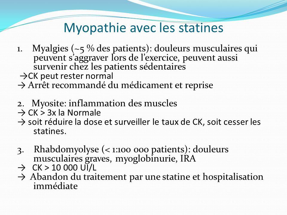 Myopathie avec les statines