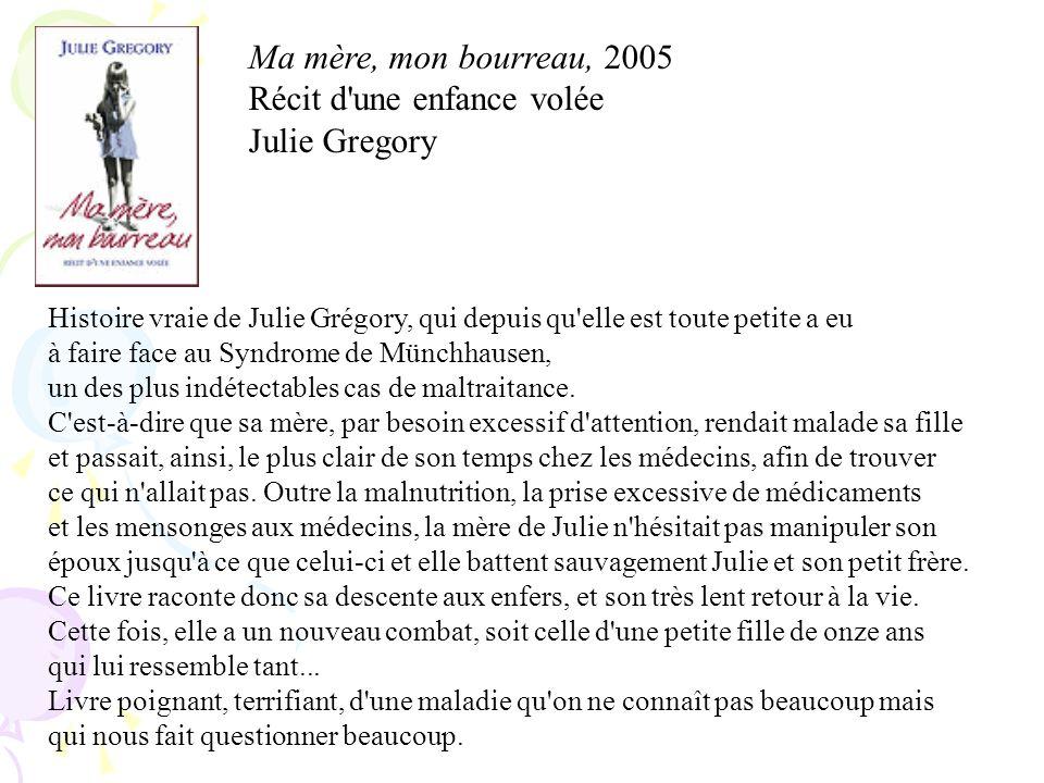 Récit d une enfance volée Julie Gregory