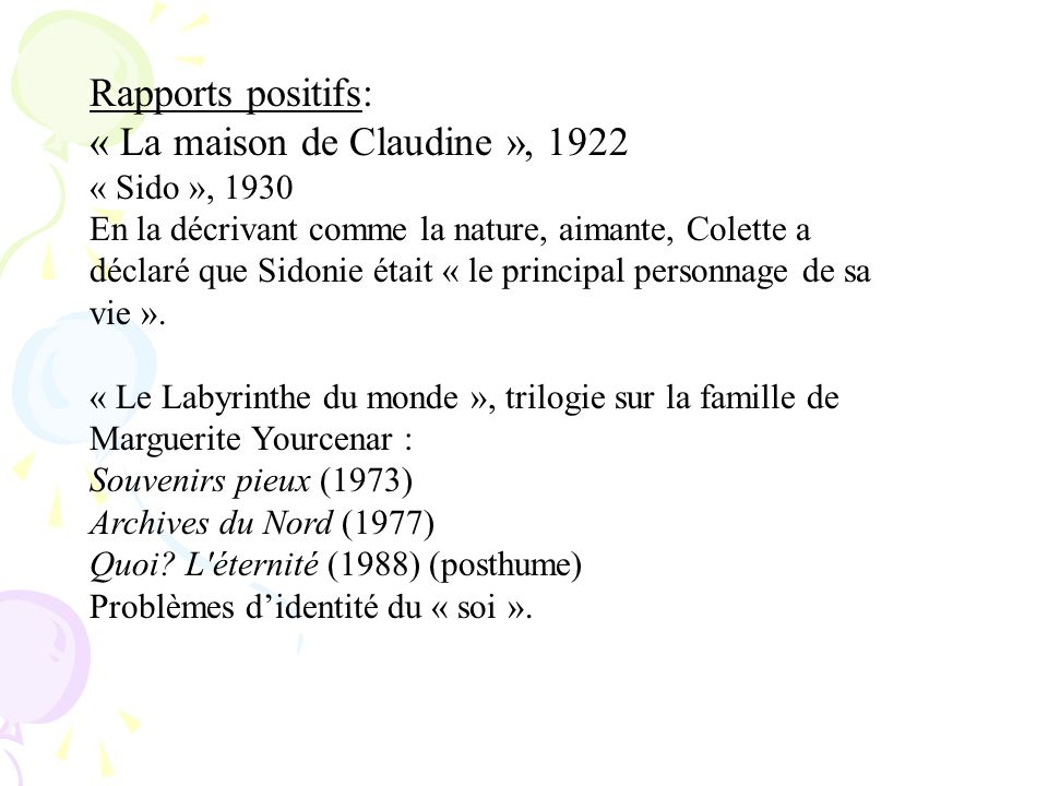 « La maison de Claudine », 1922
