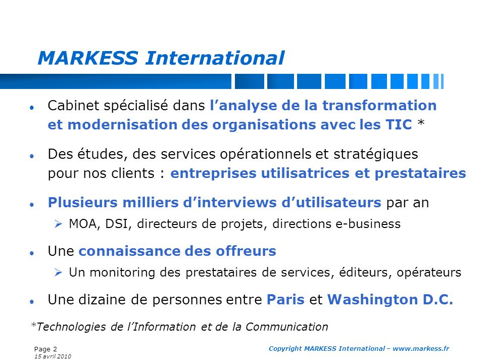 MARKESS International