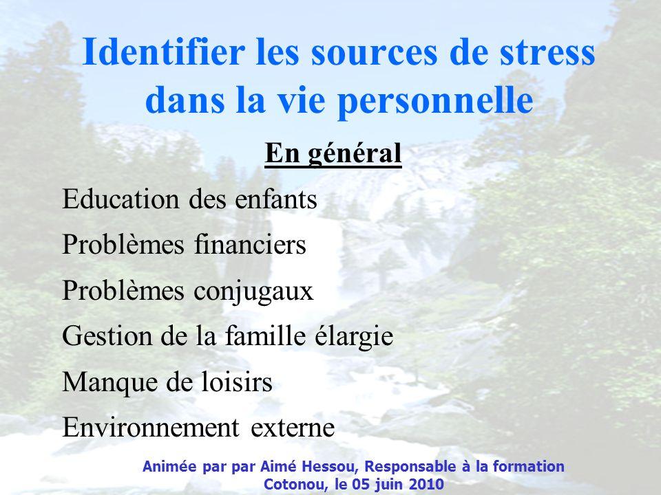 Identifier les sources de stress dans la vie personnelle
