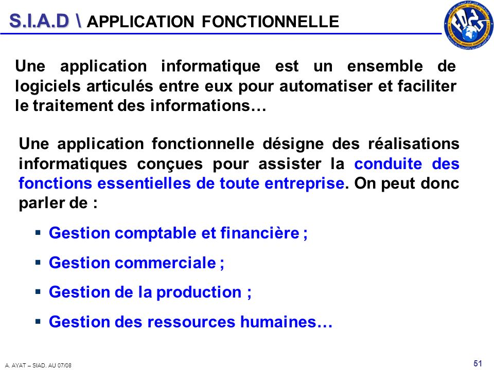 APPLICATION FONCTIONNELLE