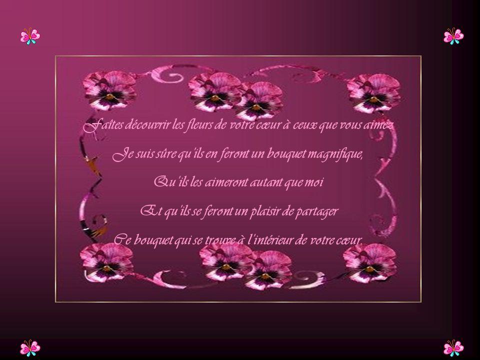 Faîtes découvrir les fleurs de votre cœur à ceux que vous aimez