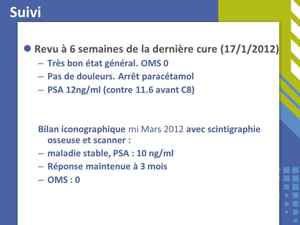 Suivi Revu à 6 semaines de la dernière cure (17/1/2012)