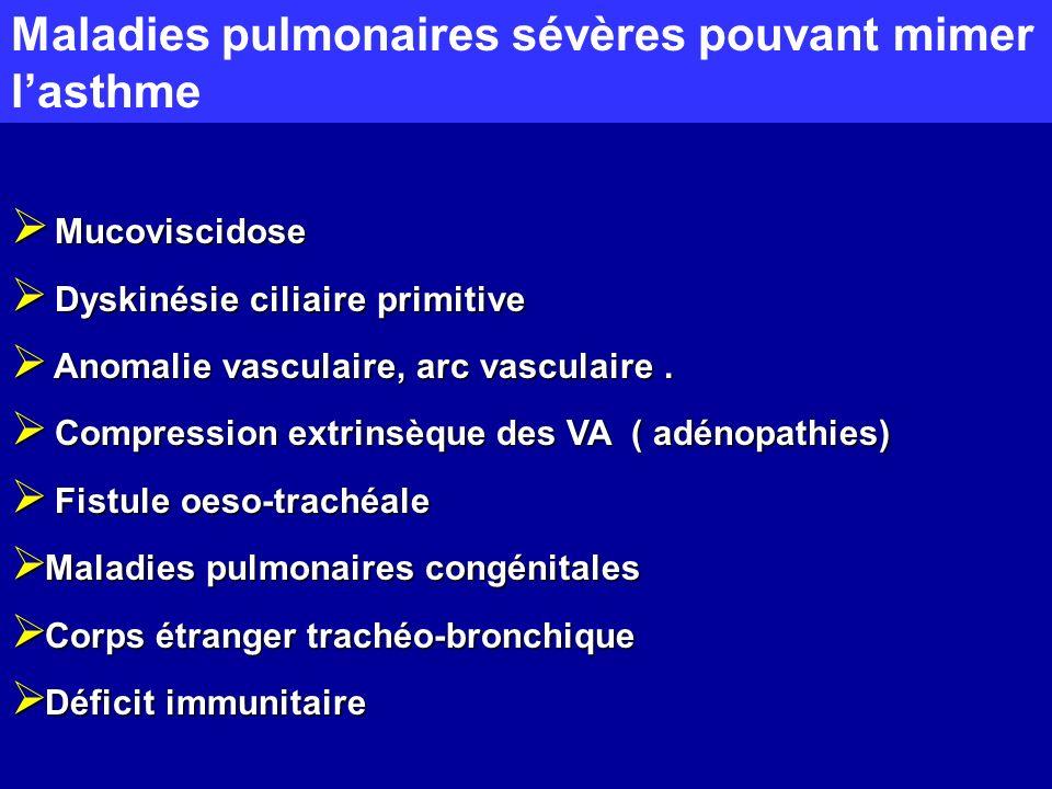 Maladies pulmonaires sévères pouvant mimer l'asthme
