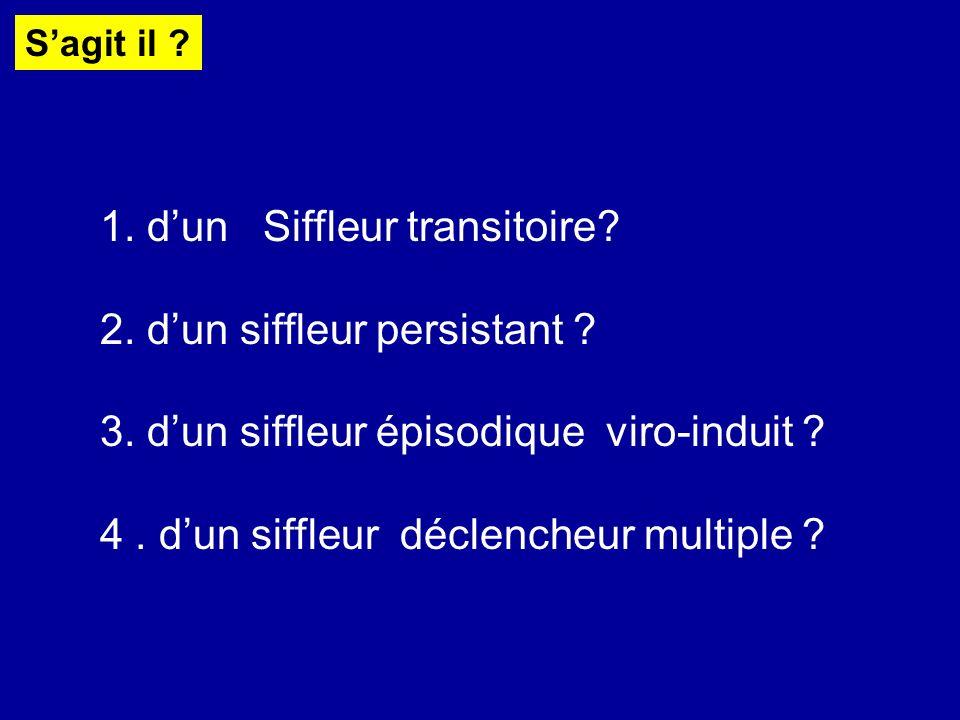 1. d'un Siffleur transitoire 2. d'un siffleur persistant
