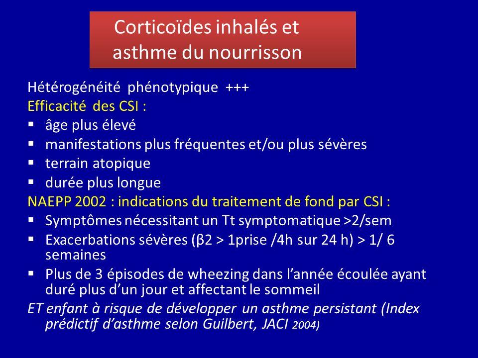 Corticoïdes inhalés et asthme du nourrisson