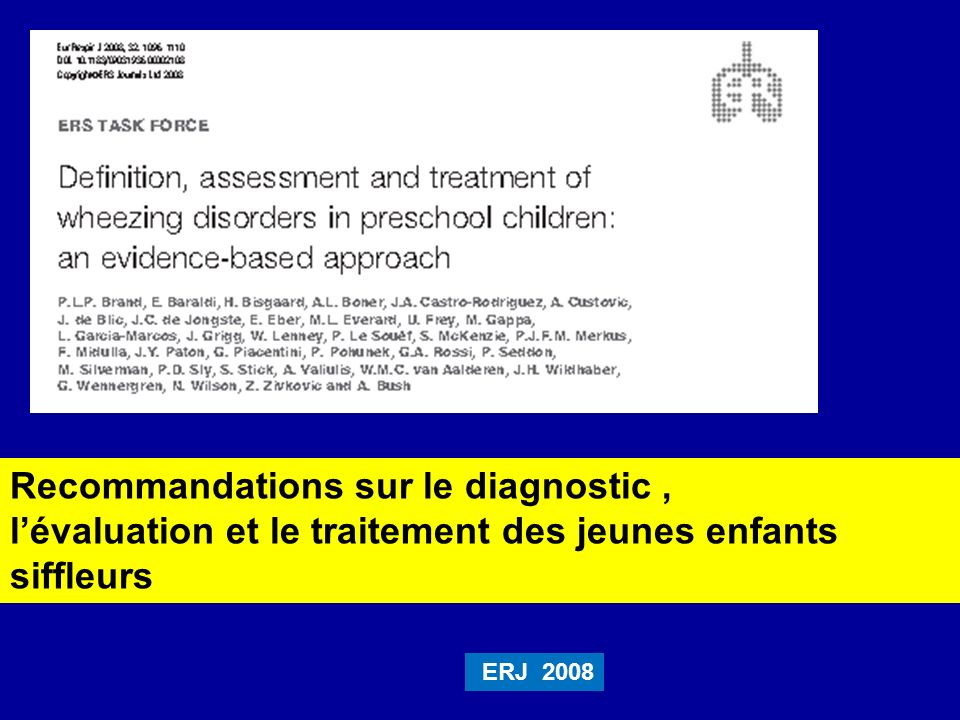 Recommandations sur le diagnostic ,