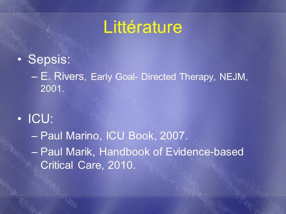 Littérature Sepsis: ICU: