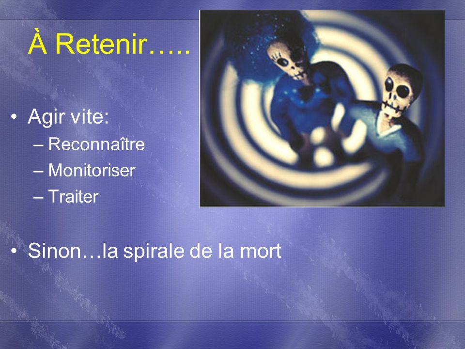 À Retenir….. Agir vite: Sinon…la spirale de la mort Reconnaître