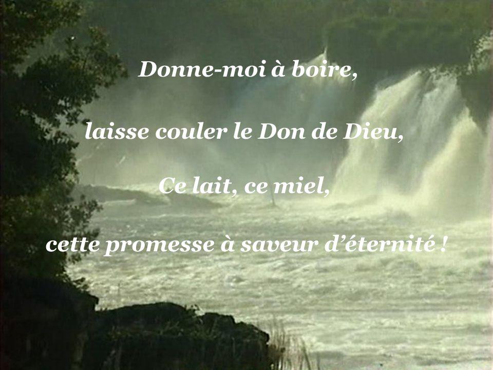 laisse couler le Don de Dieu, cette promesse à saveur d'éternité !