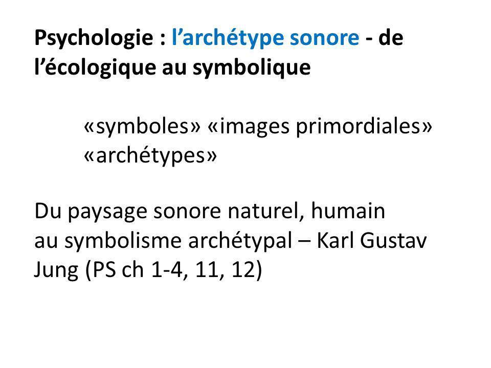 Psychologie : l'archétype sonore - de l'écologique au symbolique