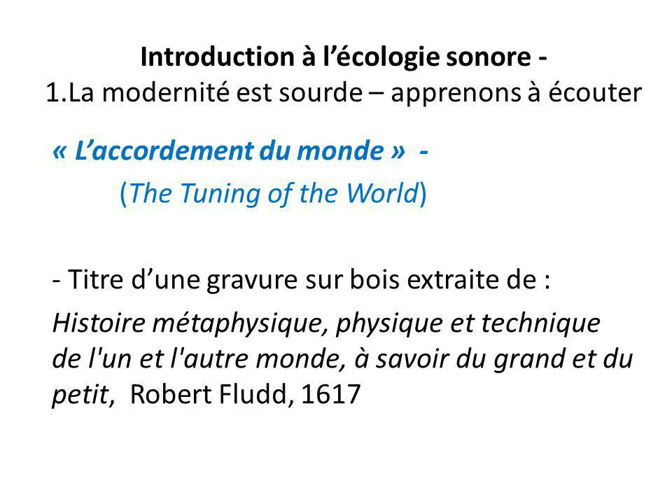 Introduction à l'écologie sonore - 1