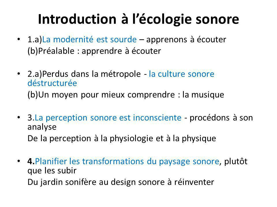 Introduction à l'écologie sonore