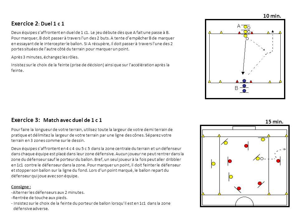Exercice 3: Match avec duel de 1 c 1