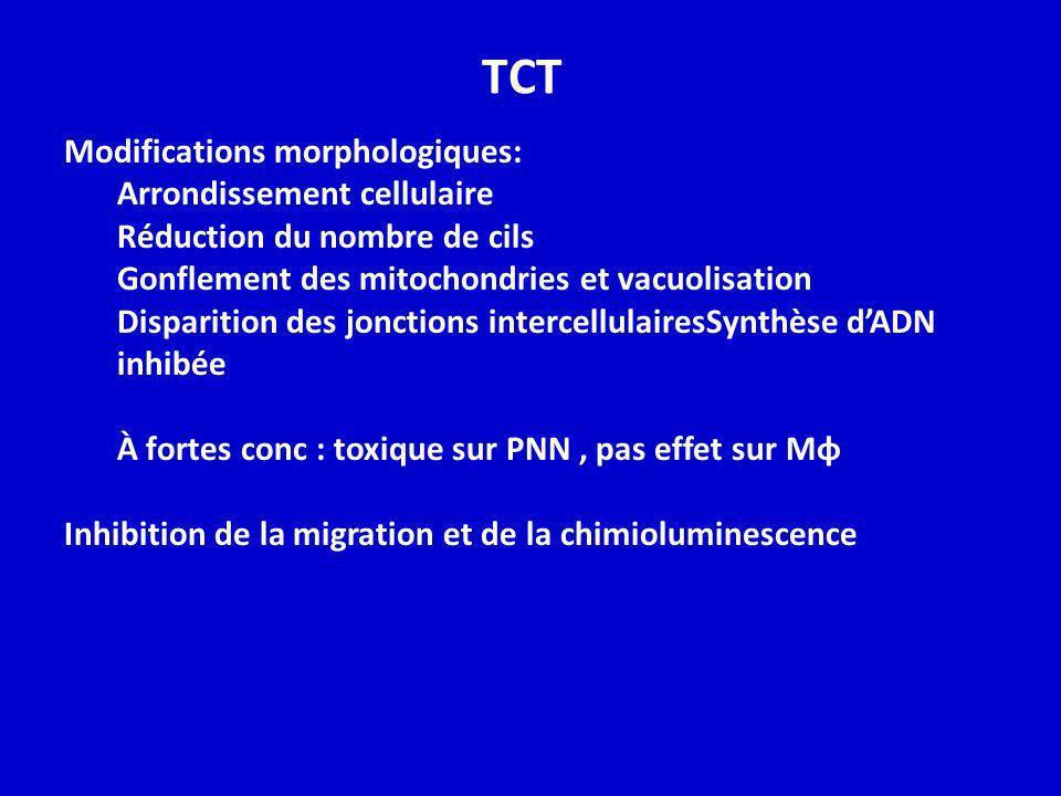 TCT Modifications morphologiques: Arrondissement cellulaire