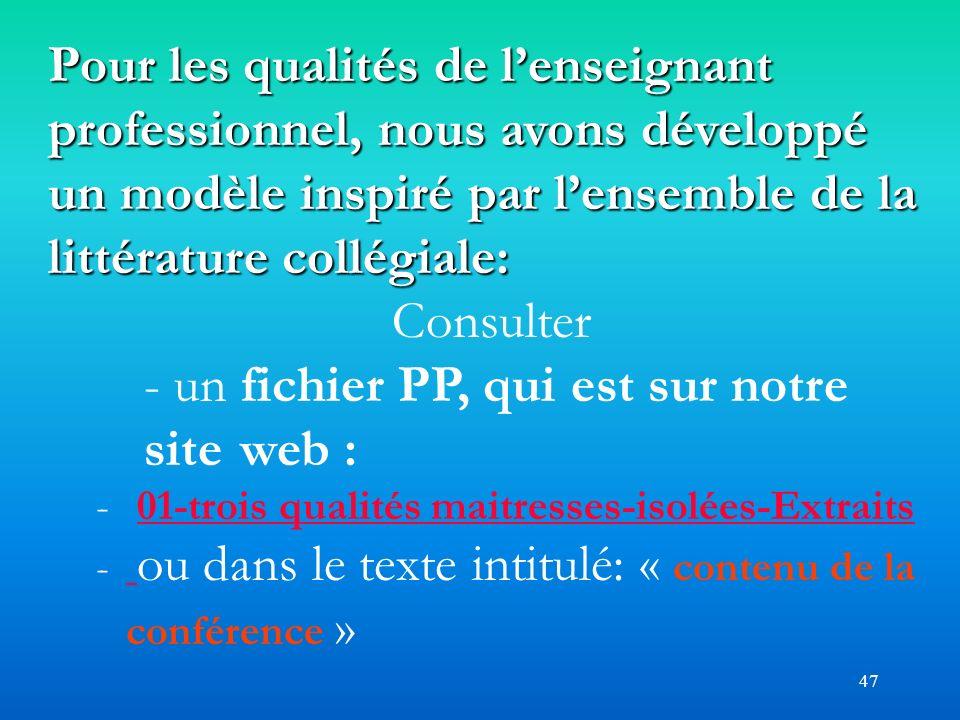 - un fichier PP, qui est sur notre site web :