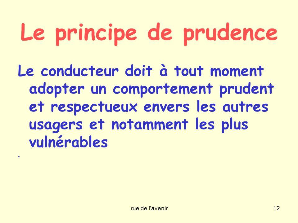 Le principe de prudence