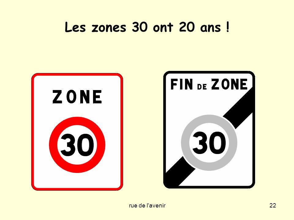 Les zones 30 ont 20 ans ! rue de l avenir