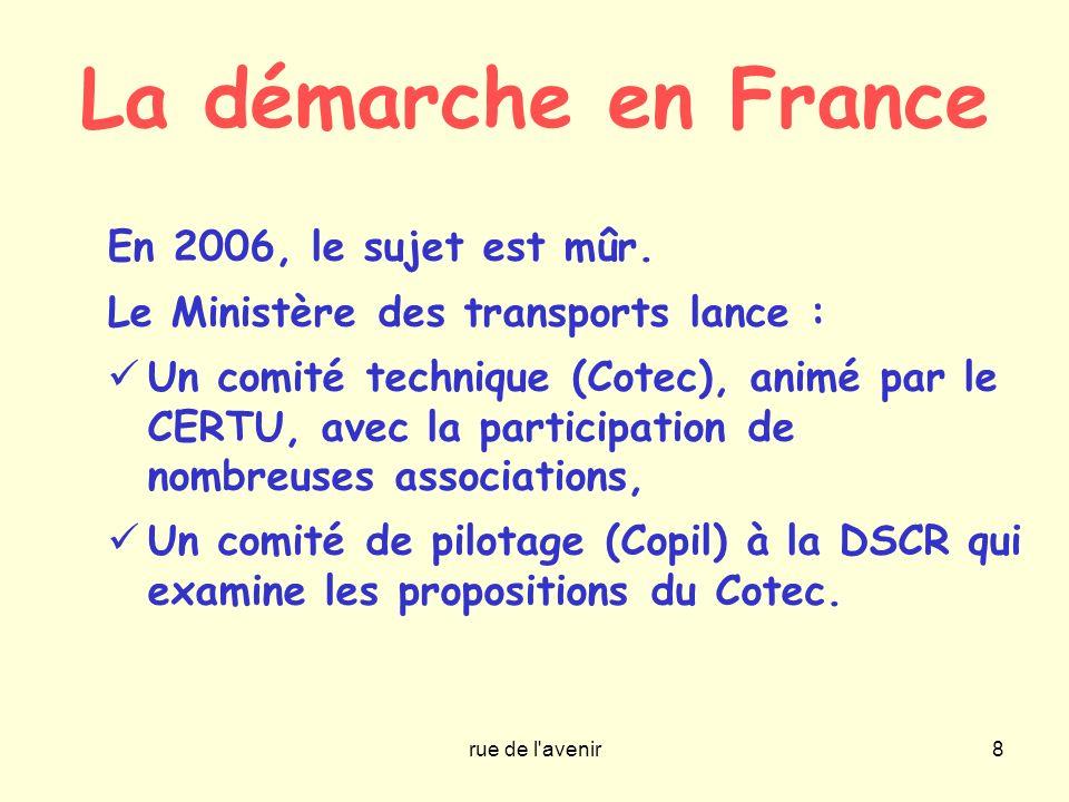 La démarche en France En 2006, le sujet est mûr.