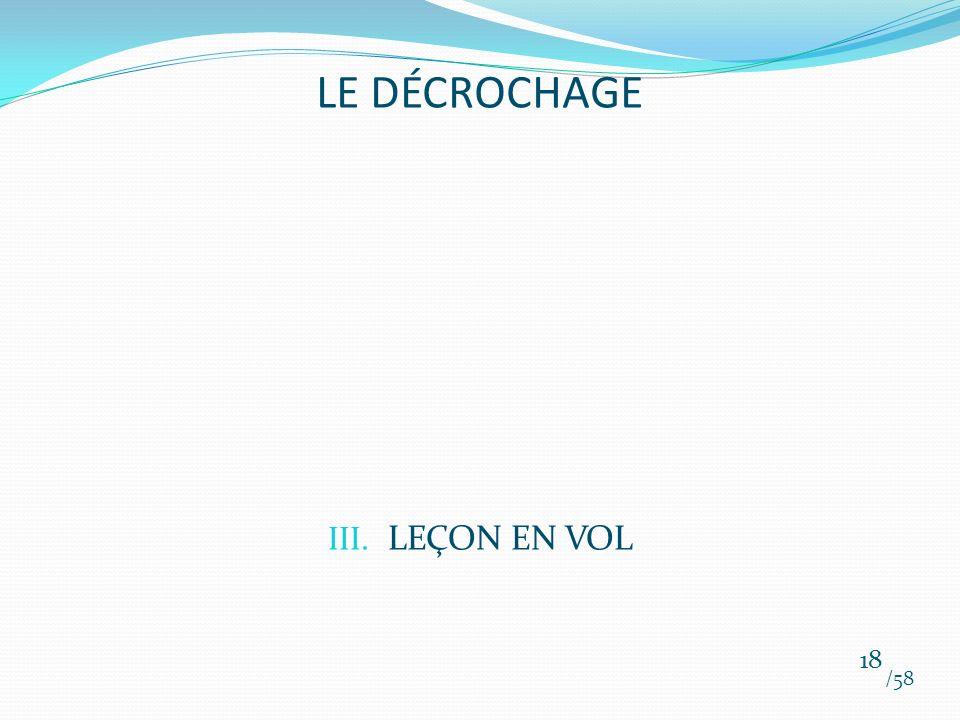 LE DÉCROCHAGE LEÇON EN VOL /58