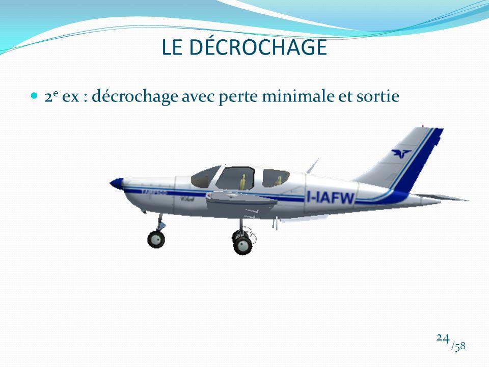 LE DÉCROCHAGE 2e ex : décrochage avec perte minimale et sortie /58