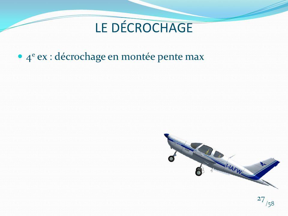 LE DÉCROCHAGE 4e ex : décrochage en montée pente max /58