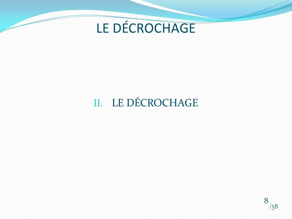 LE DÉCROCHAGE LE DÉCROCHAGE /58