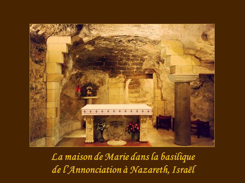 La maison de Marie dans la basilique de l'Annonciation à Nazareth, Israël