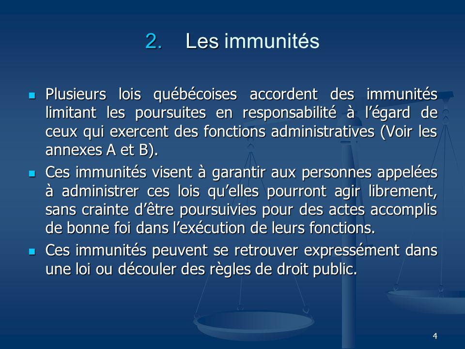 2. Les immunités
