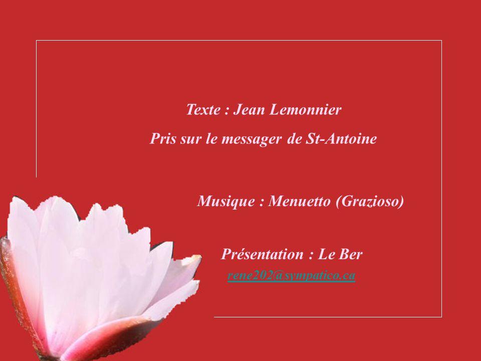 Pris sur le messager de St-Antoine Musique : Menuetto (Grazioso)