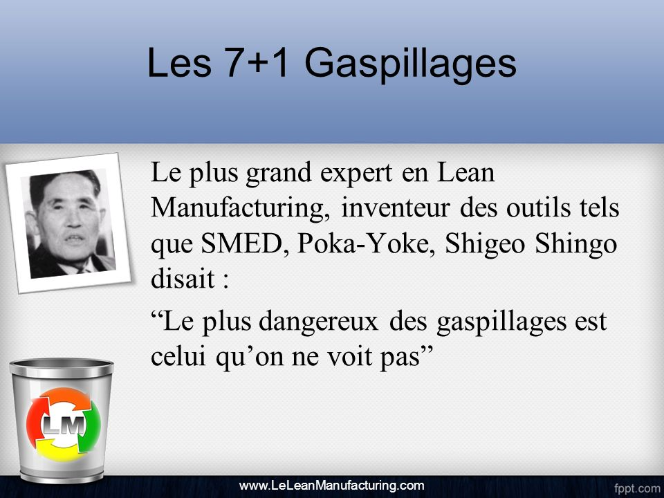 Les 7+1 Gaspillages