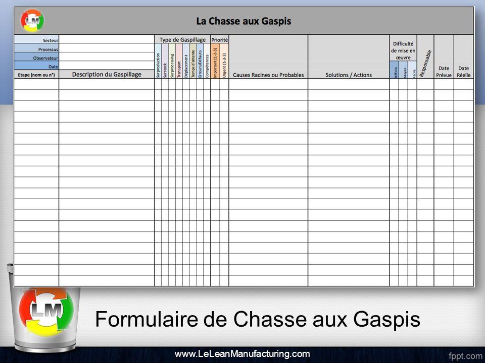 Formulaire de Chasse aux Gaspis